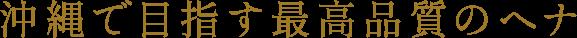 沖縄で目指す最高品質のヘナ